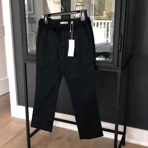 Vince navy cotton pants.